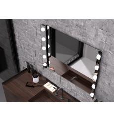 Miroir HOLLYWOOD, lumineux à LED, plusieurs dimensions
