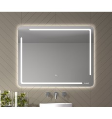 Miroir SATUNA, lumière frontale LED + rétro-éclairage, plusieurs dimensions