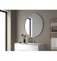 Miroir LEYTE rond, argent mat, plusieurs dimensions