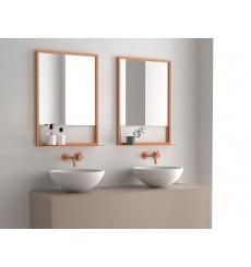 Miroir ADELAIDA avec tablette, cuivre, plusieurs dimensions