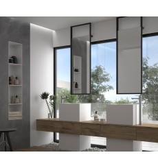 Miroir OKINAWA plafond, noir mat, plusieurs dimensions