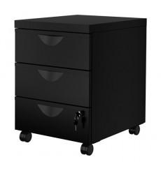 Tiroirs de rangement bureau en métal ESSEN 3 tiroirs noir