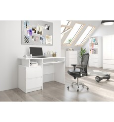 Bureau Gaël 135 cm coloris blanc