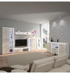 Ensemble meuble TV RUMBA 120 cm en plusieurs couleurs