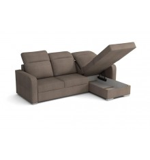 Canapé d'angle convertible PACO taupe 232x158 cm