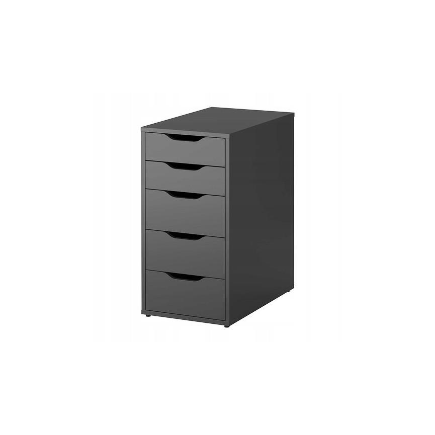 Meuble De Rangement Bureau Noir.Rangement Bureau 6 Tiroirs Spring 70x36 Cm Noir Sur Notre