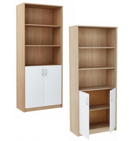 Bibliothèque étagère de bureau ALTA 180 x 74 cm en bicolore