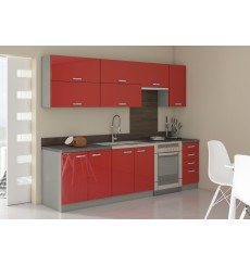 Cuisine ROSE rouge brillant 260 cm