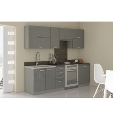 Cuisine GREY gris brillant 260 cm