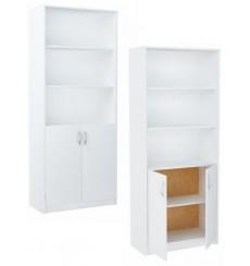 Bibliothèque étagère de bureau ALTA 180 x 74 cm en blanc