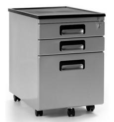 Caisson bureau métallique 3 tiroirs PALM gris 56x40 cm