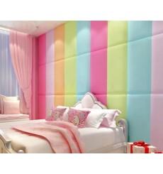 Panneau rembourré pour rêvetement mural en tissu velours en divers coloris 60x40 cm