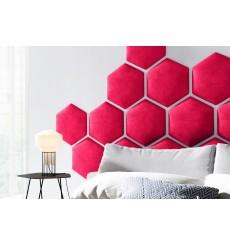 Panneau rembourré hexagonale HONEYCOMB en tissu TRINITY 09