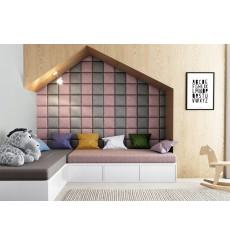 Panneau rembourré pour rêvetement mural en velours épais en divers coloris 25x25 cm