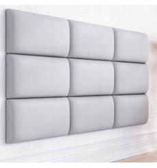 Panneau rembourré pour rêvetement mural ITALIA en similicuir blanc 70x30cm