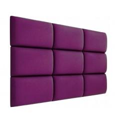 Panneau rembourré pour rêvetement mural en velours violet 60x40 cm