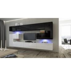 Ensemble meuble TV ALBANIA 263 cm en plusieurs couleurs