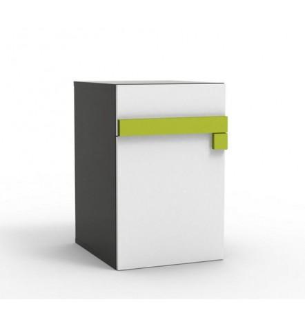 Caisson bureau LUGO vert 46x56 cm