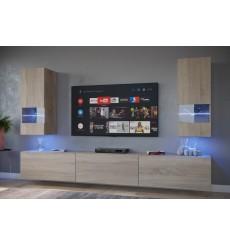 Ensemble meuble TV SEZANA chêne sonoma en plusieurs dimensions - 226/249/273 cm