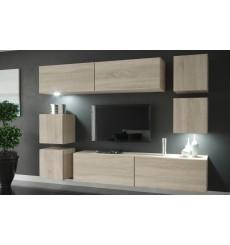 Ensemble meuble TV LIMA N65 218 cm en plusieurs couleurs