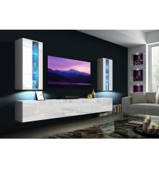 Ensemble meuble TV LUISIANA 249 cm en plusieurs couleurs