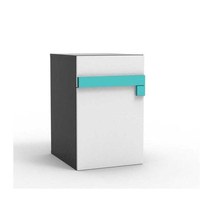 Caisson bureau LUGO bleu  46x56 cm