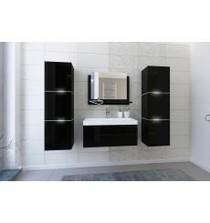 Meuble salle de bain IBIZA II 60 IB2-17B-HG20-60 noir brillant