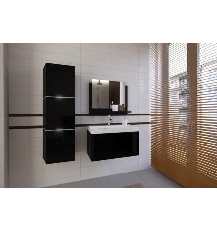 Meuble salle de bain IBIZA I 60 noir avec lavabo