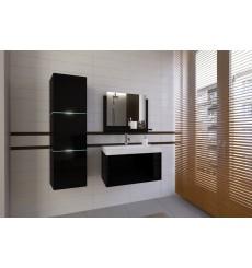 Meuble salle de bain IBIZA I 60 noir avec vasque