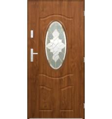 Porte d'entrée LIBERAL 80 cm en acier inoxydable en 2 coloris