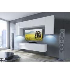 Ensemble meuble TV CONCEPT 2/HG/W/3-2B blanc brillant 120 cm