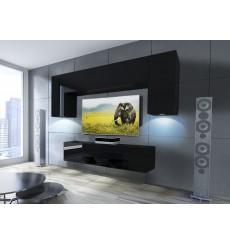 Ensemble meuble TV CONCEPT 2/HG/B/6-2B noir brillant 120 cm