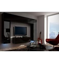 Ensemble meuble TV CONCEPT 3/HG/B/4-1B noir brillant 120 cm