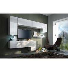 Ensemble meuble TV CONCEPT 5/HG/W/4-2B blanc brillant 157 cm