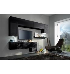 Ensemble meuble TV CONCEPT 5/HG/B/5-2B noir brillant 157 cm
