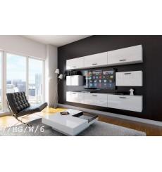 Ensemble meuble TV CONCEPT 7/HG/W/6 blanc brillant 249 cm