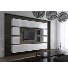 Ensemble meuble TV CONCEPT 17 blanc brillant 249 cm
