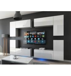 Ensemble meuble TV CONCEPT 20-20/HG/W/2 1A blanc brillant 260 cm