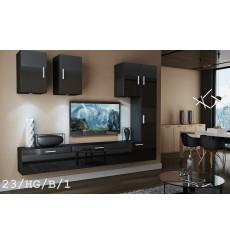 Ensemble meuble TV CONCEPT 23-23/HG/B/1 noir brillant 249 cm