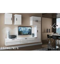 Ensemble meuble TV CONCEPT 23-23/HG/W/6 blanc brillant 249 cm