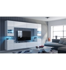 Ensemble meuble TV CONCEPT 27-27/HG/W/2-1A blanc brillant 240 cm