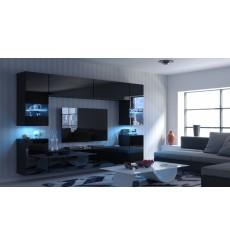 Ensemble meuble TV CONCEPT 27-27/HG/B/1-1A noir brillant 240 cm