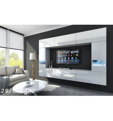 Ensemble meuble TV CONCEPT 29/HG/W/2 blanc brillant 249 cm