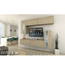 Ensemble meuble TV CONCEPT 30-30/M/S/4 214 cm
