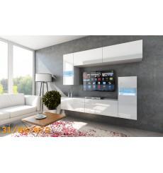 Ensemble meuble TV CONCEPT 31-31/HG/W/2-1A blanc brillant 214 cm