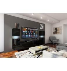 Ensemble meuble TV CONCEPT 32-32/HG/B/1-1A noir brillant 240 cm