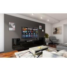 Ensemble meuble TV CONCEPT 33-33/HG/B/1-1B noir brillant 256 cm
