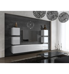 Ensemble meuble TV CONCEPT 35-35/HG/W/2-1A blanc brillant 249 cm