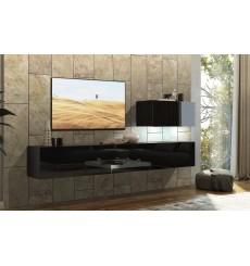 Ensemble meuble TV CONCEPT 38-38/HG/B/1-1A noir brillant 249 cm
