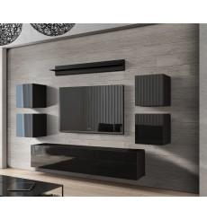 Ensemble meuble TV CONCEPT 41/HG/B/1-1A noir brillant 240 cm